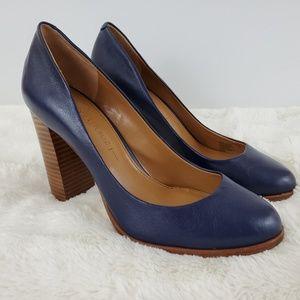 Banana Republic Pumps Blue Soft Leather Round Toe